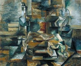 Bottle and Fishes c.1910-2 Georges Braque 1882-1963 Purchased 1961 http://www.tate.org.uk/art/work/T00445